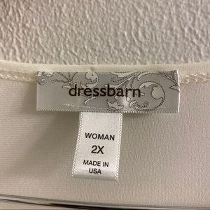 Dress Barn Tops - DressBarn Ivory Draped blouse